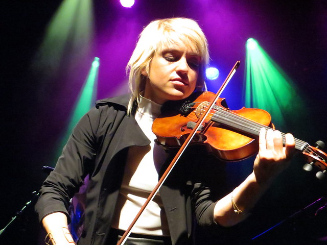 Anna Bulbrook of The Airborne Toxic Event: World's classiest bad-ass rock star. Photo by Julie.