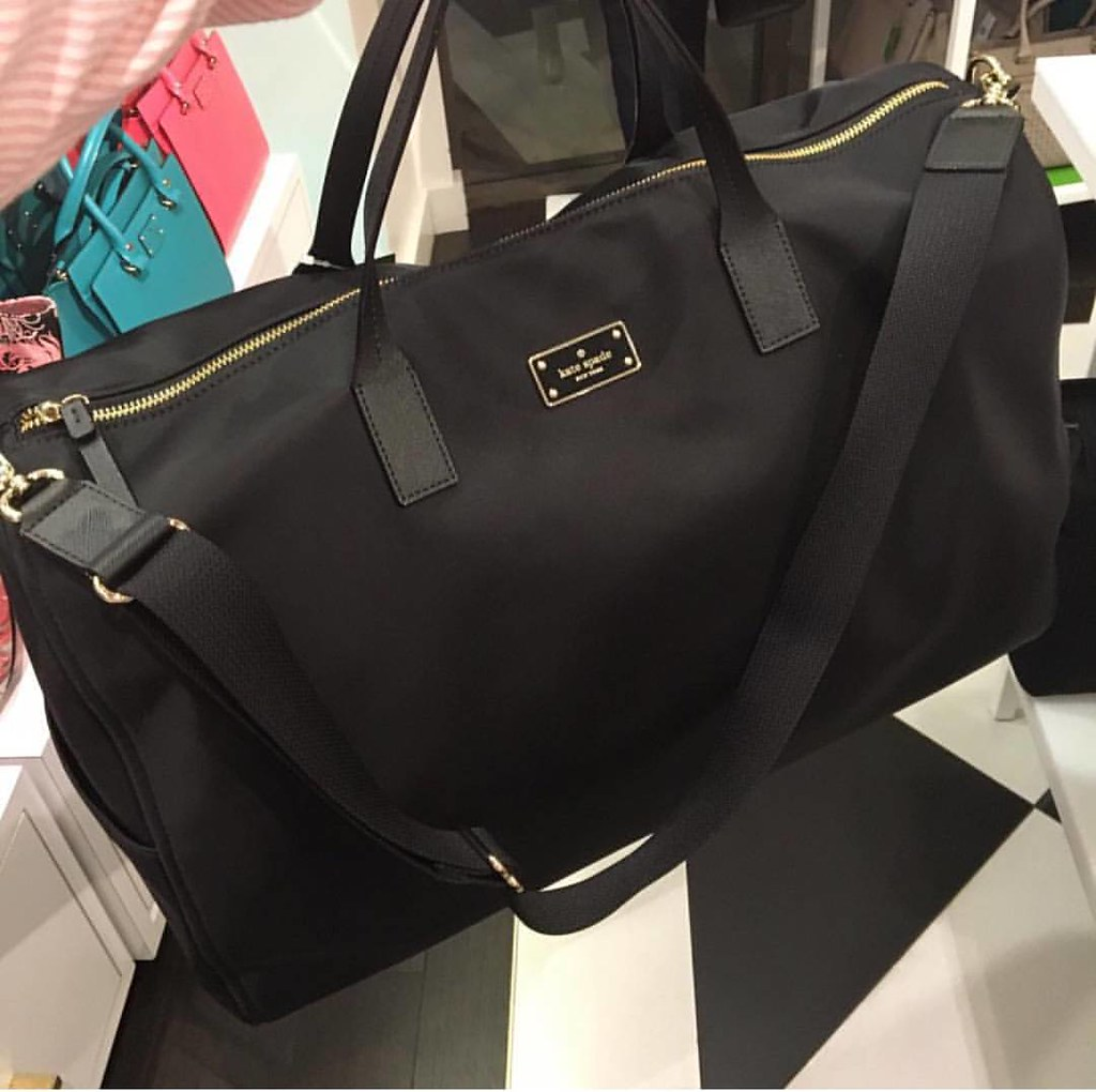 Rm800 Kate Spade Filipa Black Avenue Duffle Bag/Gym Bag. S ...