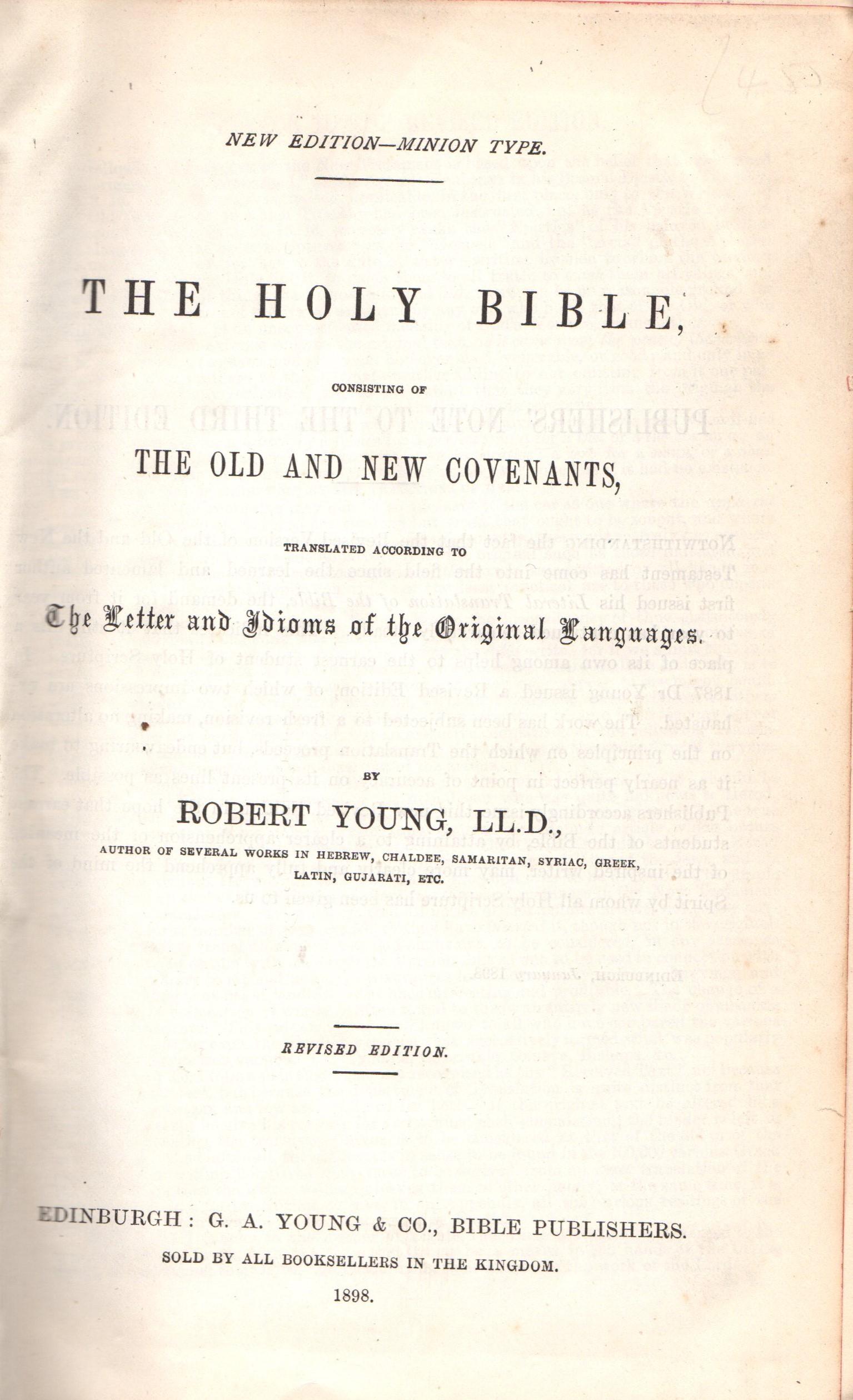 robert young internet bible catalog