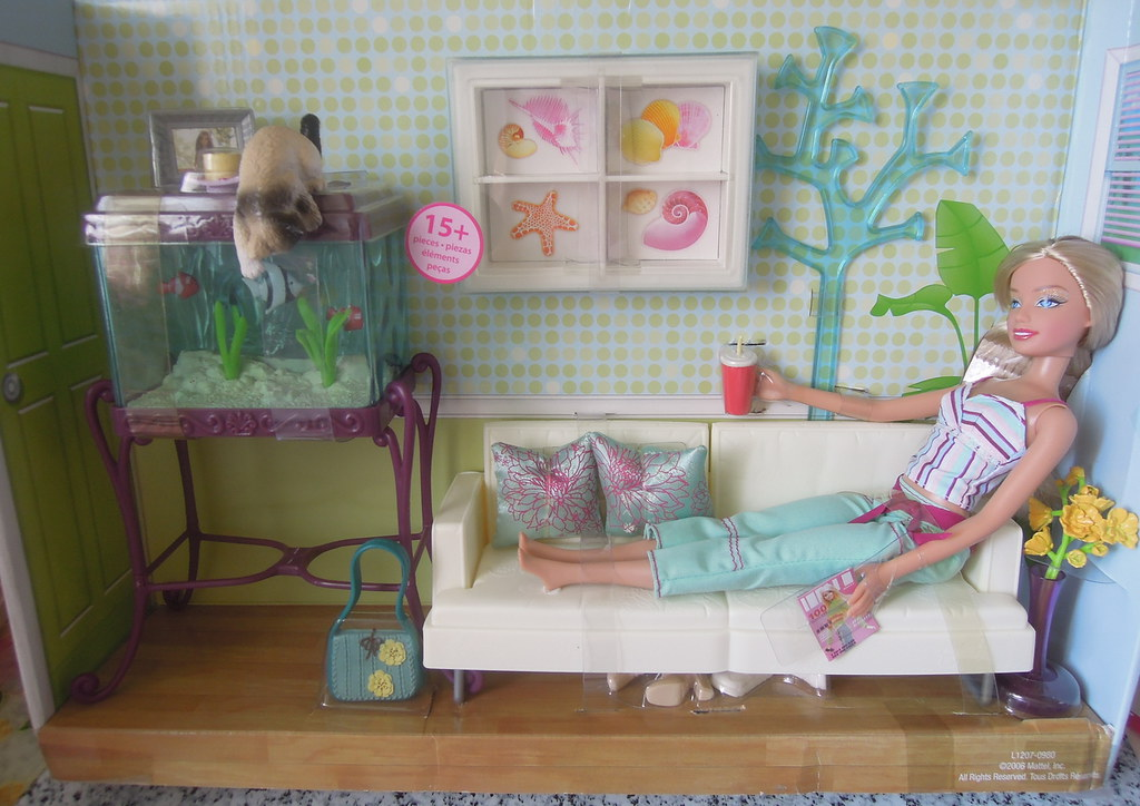 barbie living room set mattel 2006 aquarium cool living room set 2013 cl 12356