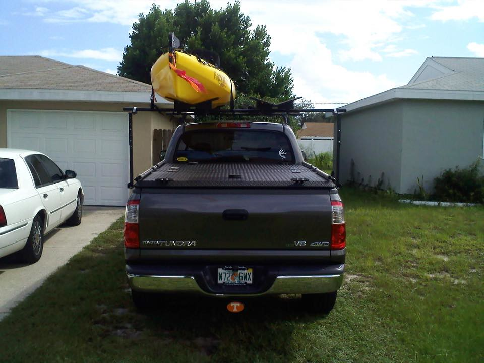 Toyota Tundra Tonneau Cover >> A Heavy Duty Truck Bed Cover And Kayak Rack On A Toyota Tu ...