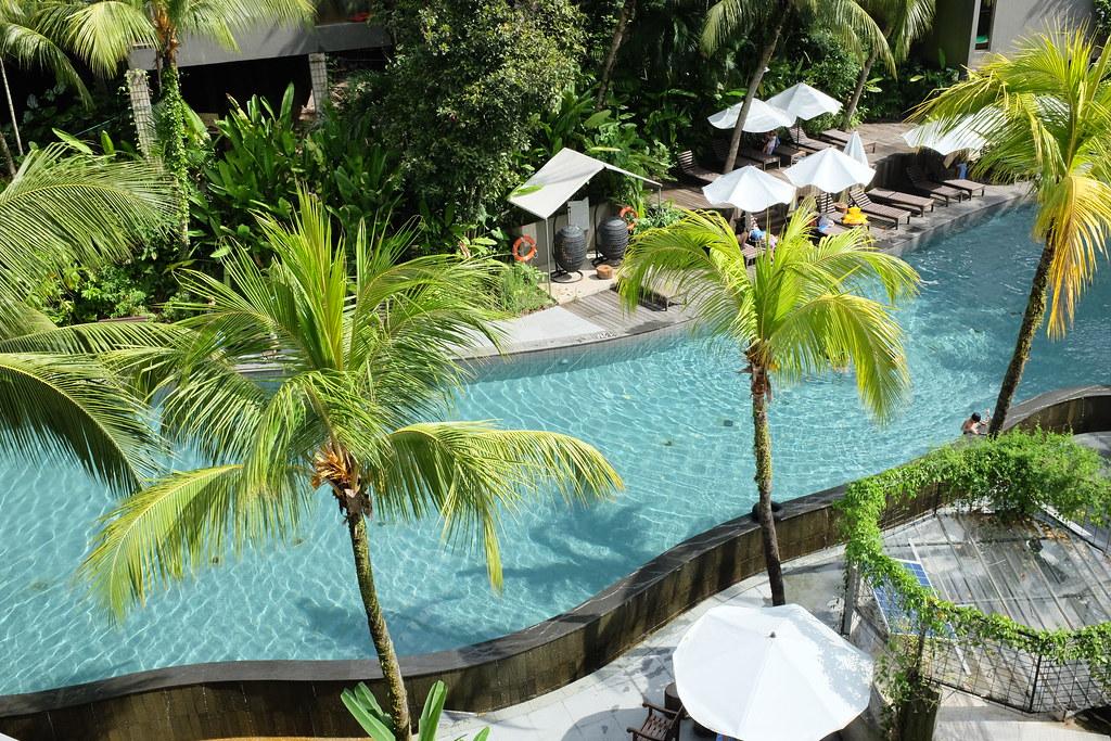 Swimming pool at siloso beach resort hot spring water sou - Siloso beach resort swimming pool ...