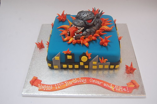 As stunning as he is scary - the Godzilla Cake - from £80.