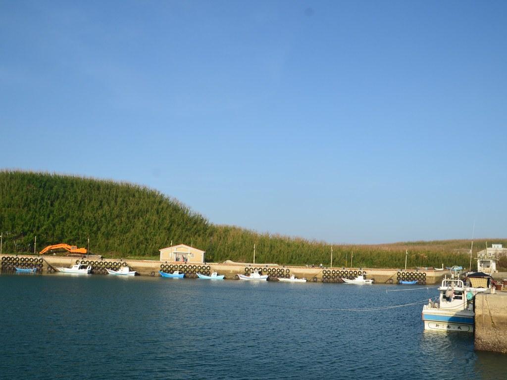 望安花宅漁港。圖片來源:黃淑玲提供。