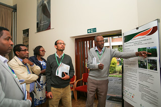 Abera Adie at partners poster presentation session