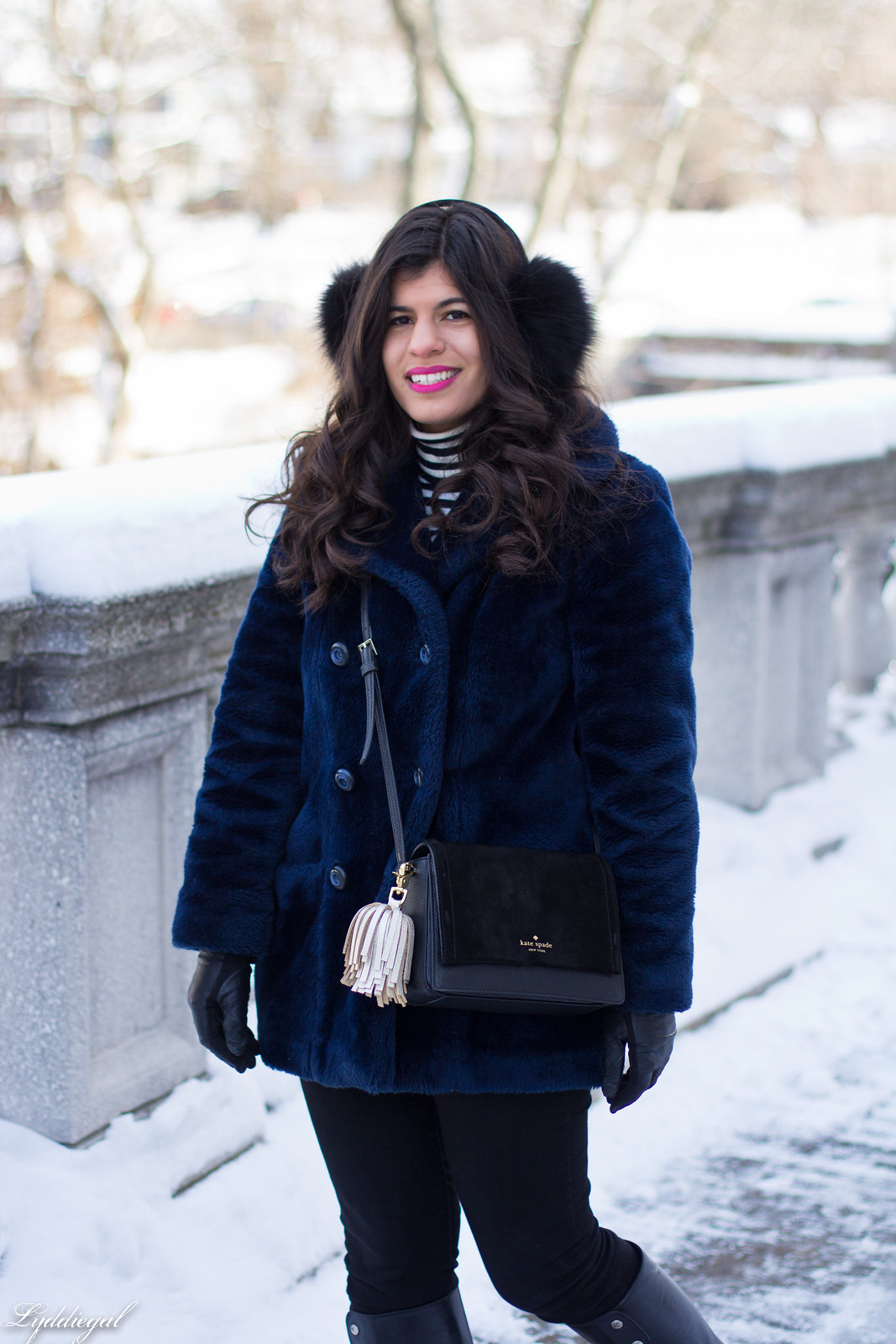 navy fur coat, black boots, striped turtleneck, fur earmuffs-5.jpg