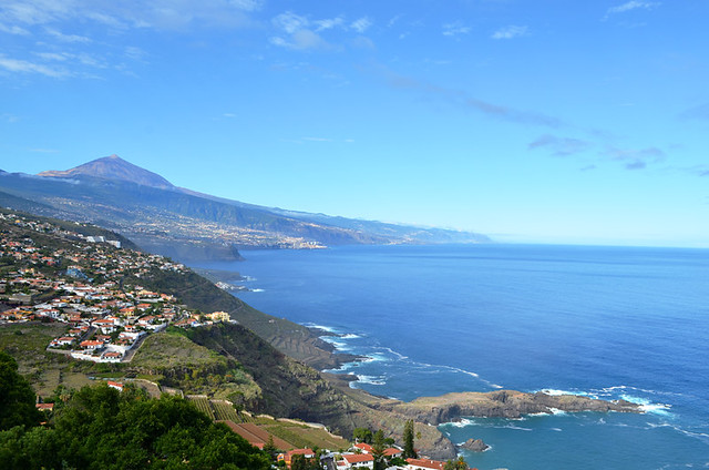 View from entrance, Los Lavaderos gardens, El Sauzal, Tenerife