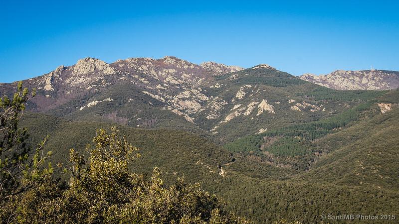 Serra de les Salines desde el Puig de Can Baró