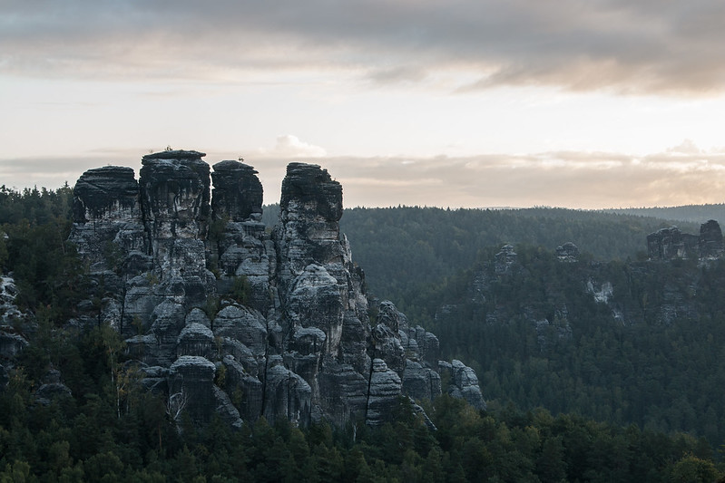 bastei during sunrise