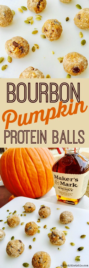 These Bourbon Pumpkin Protein Balls are a delicious snack or quick dessert! They pack a little