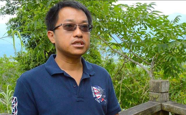 黃群棠是「瑞穗百年花海計畫」的幕後推手。(攝影:謝宗璋)