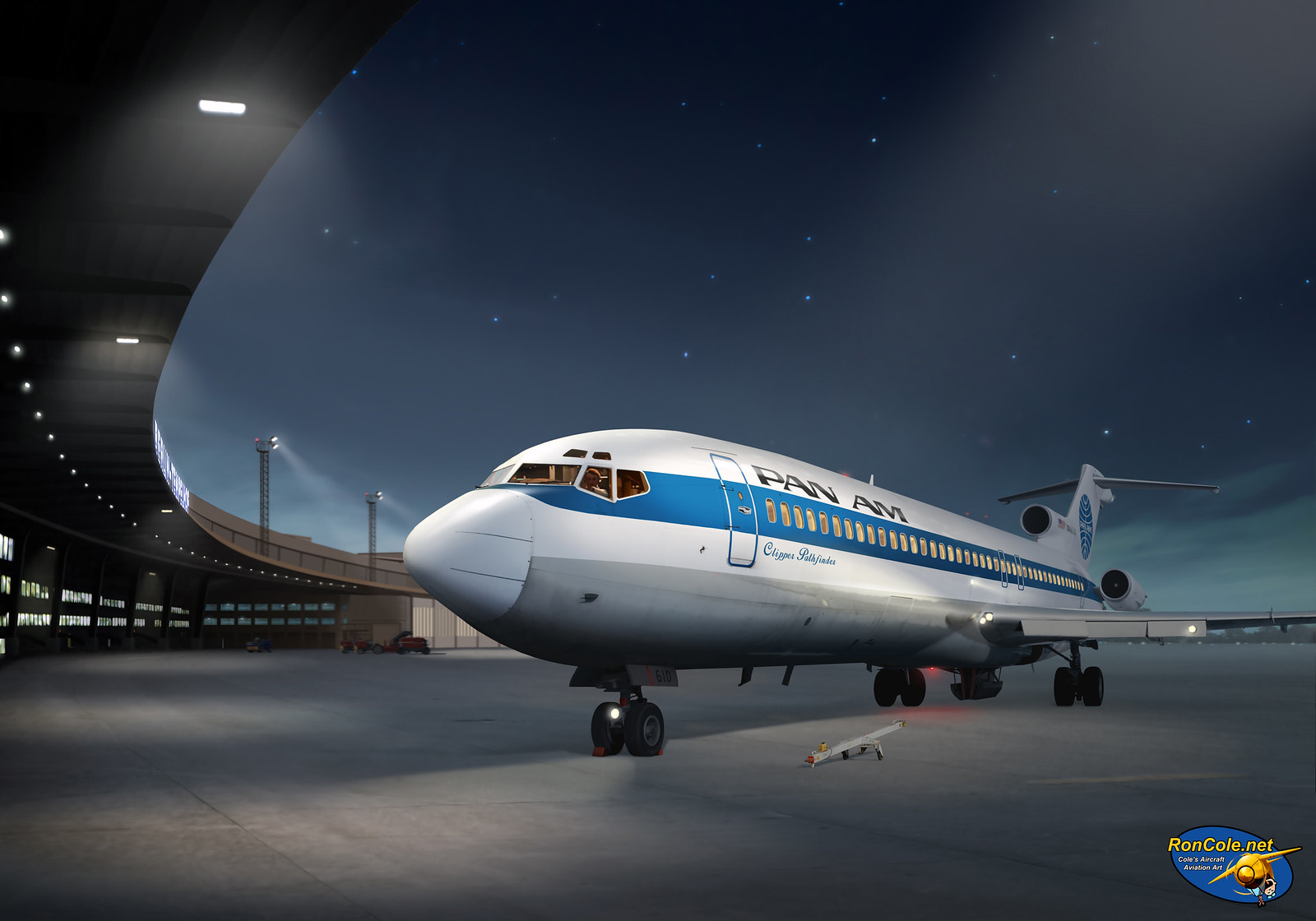 рисунок Pan Am Boeing 727 at Berlin Tempelhof