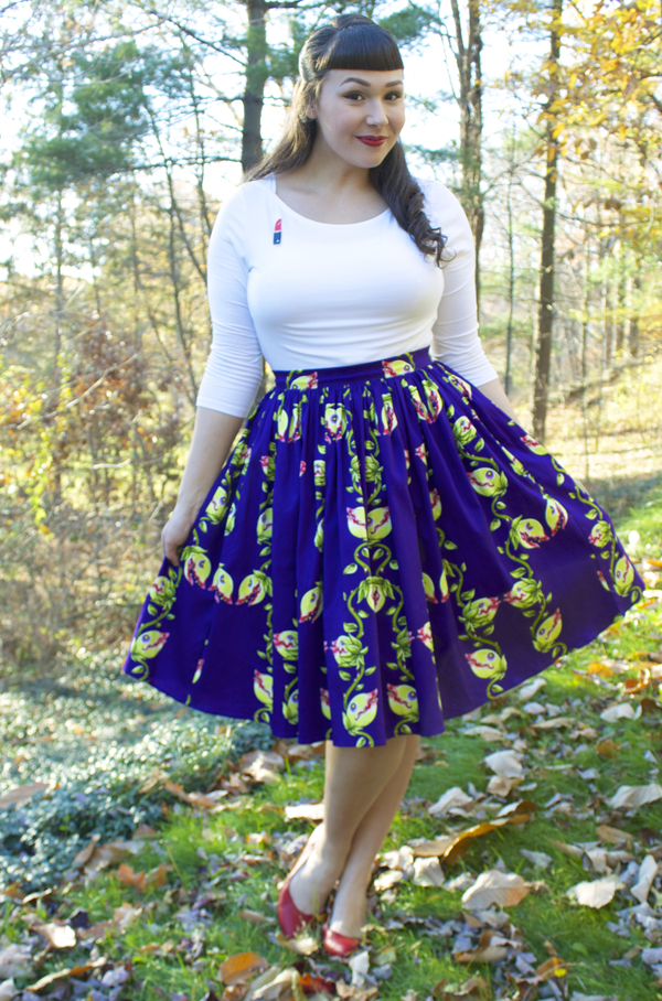 pinup girl clothing darling dames fly trap skirt