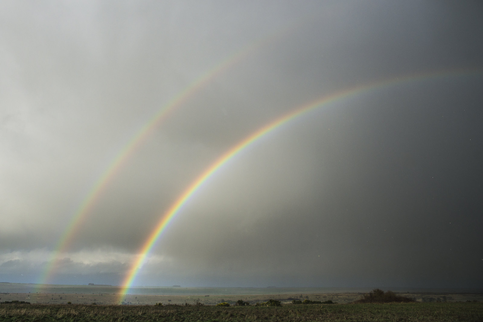 Double Rainbow Over the Plain