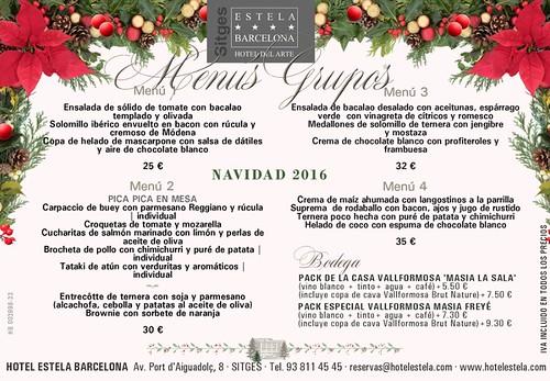 HOTEL ESTELA - MENU GRUPOS
