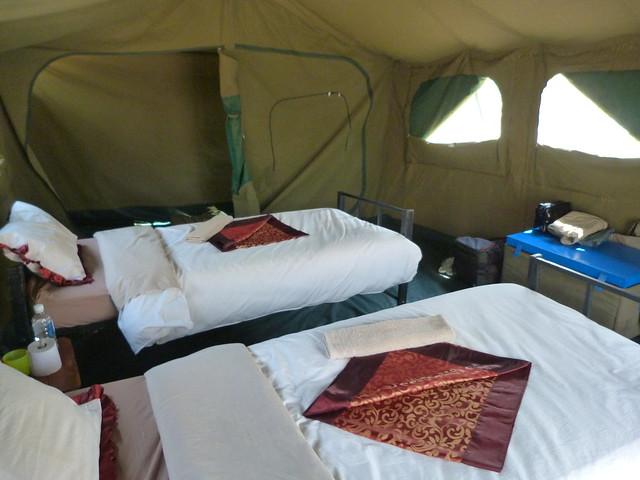 Tienda de campaña Meru que utilizamos durante nuestro safari móvil en Botswana con Mopane Game Safaris