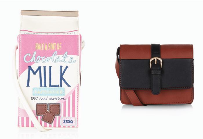 Самая милая находка этой недели  сумка в виде винтажной упаковки  шоколадного молока. Дизайн незамысловатый, ремешок через плечо,  застегивается сумка на ... 4dc8e19de44