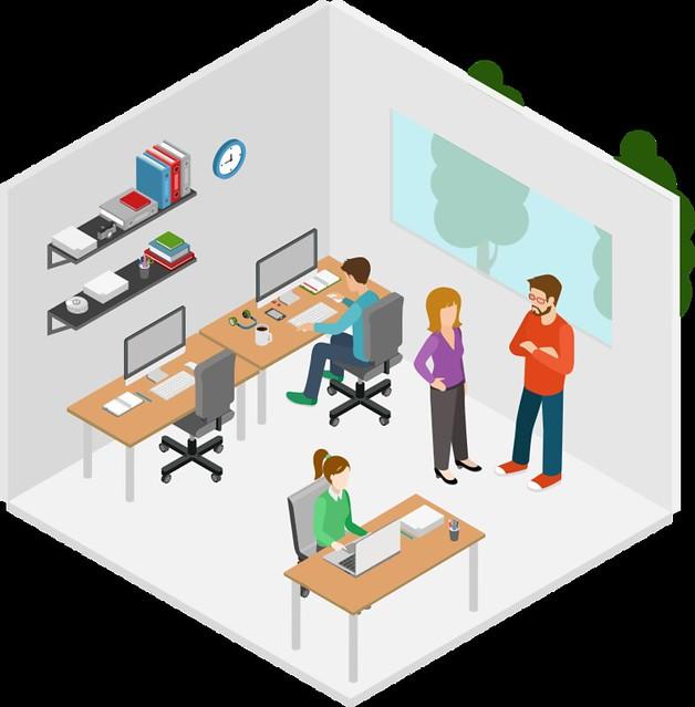 Ilustração: escritório