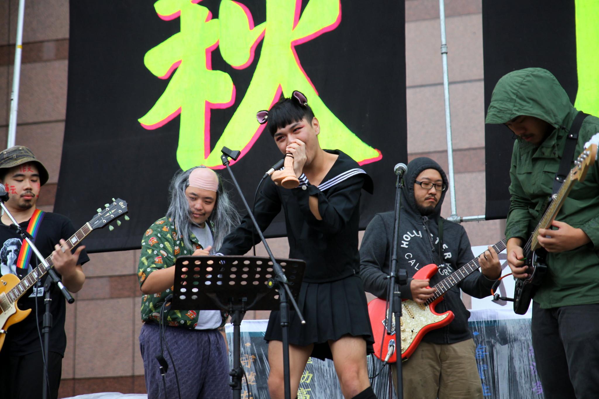 「樹懶教會我的事」的音樂表演。(攝影:陳逸婷)
