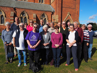 Photo OMD-M1_20151008_PA080023 of 'Cumbrian Codgers' group photo outside St James, Barrow-in-Furness