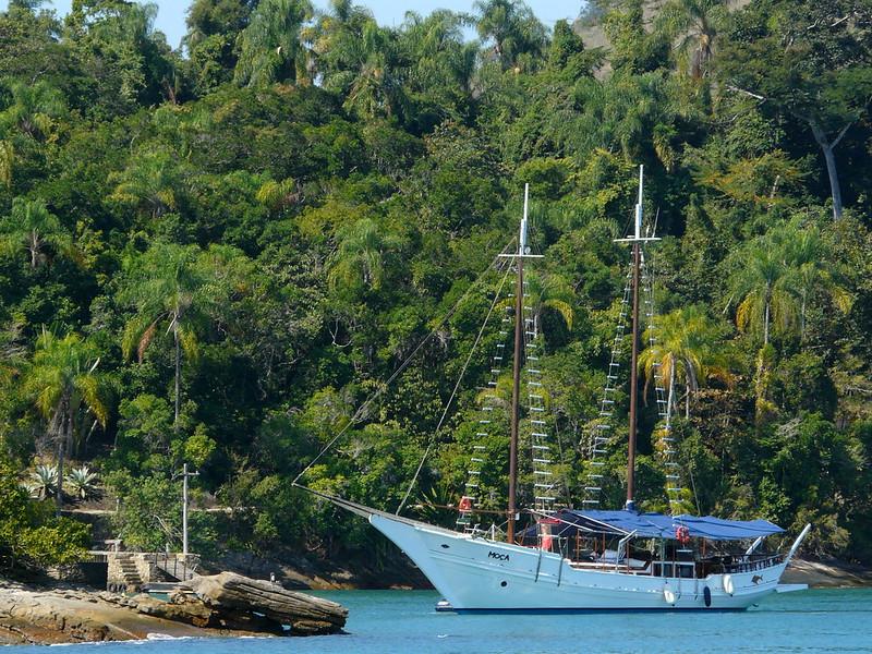Excursion au milieu de l'archipel de Paraty