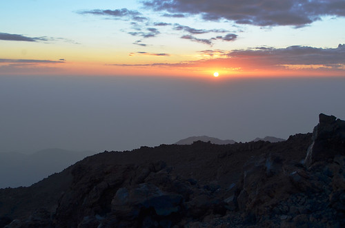 Sunset from Mount Teide, Tenerife