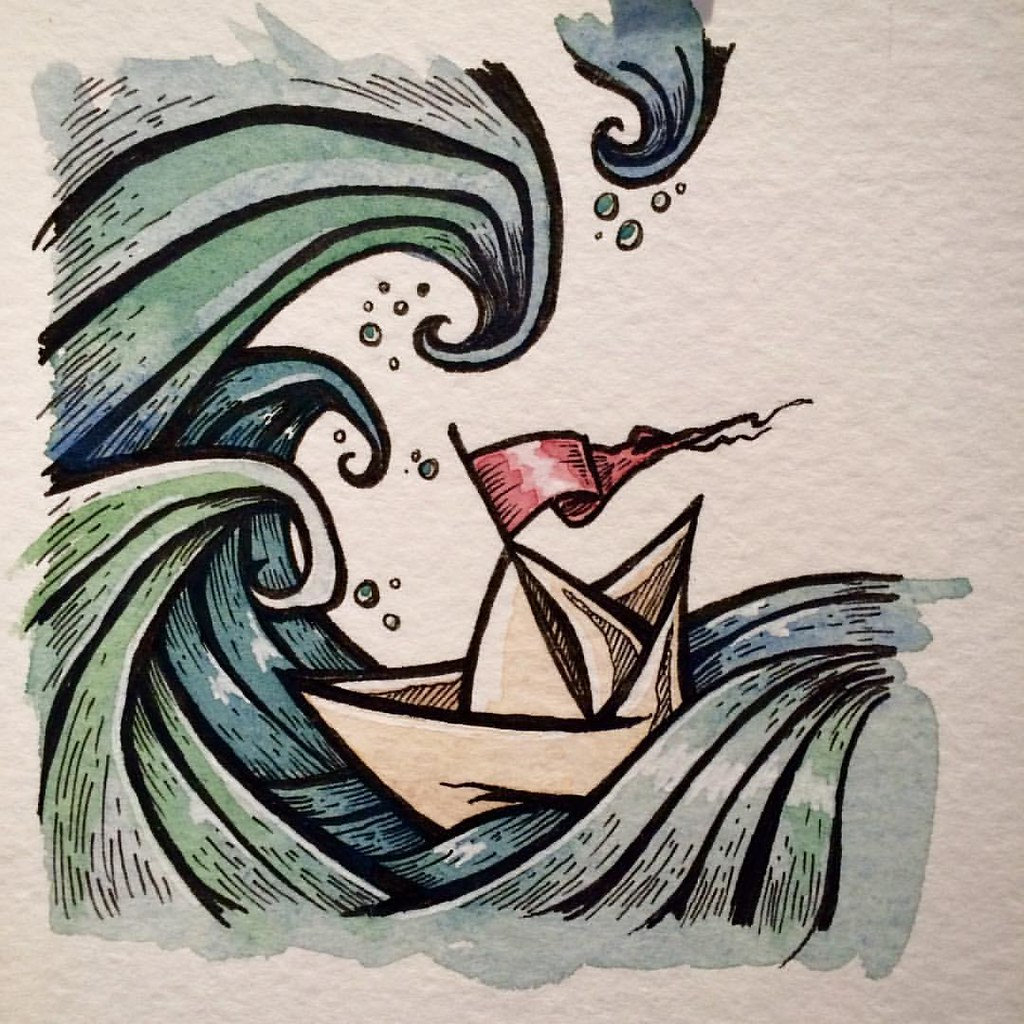 Drawing Lines Surf Movie : Paper and boats welcome to my life paperboat art il
