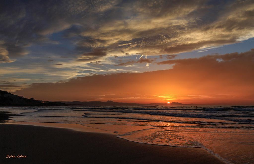 biarritz coucher de soleil c te des basques sylvie lebrun flickr. Black Bedroom Furniture Sets. Home Design Ideas