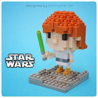 Nanoblock Luke Skywalker, by inanoblock, on Flickr