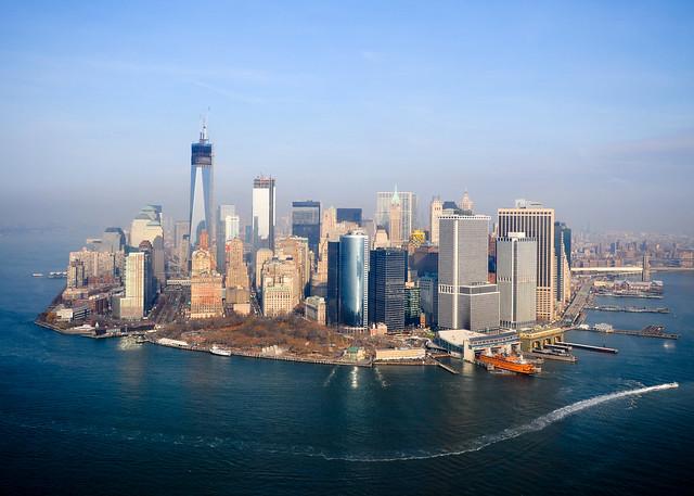 Vistas de Manhattan desde el aire y un crucero por el Hudson