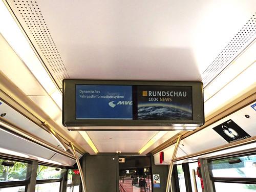 In Wagen 2154 ist das Münchner Fenster testweise in Betrieb.