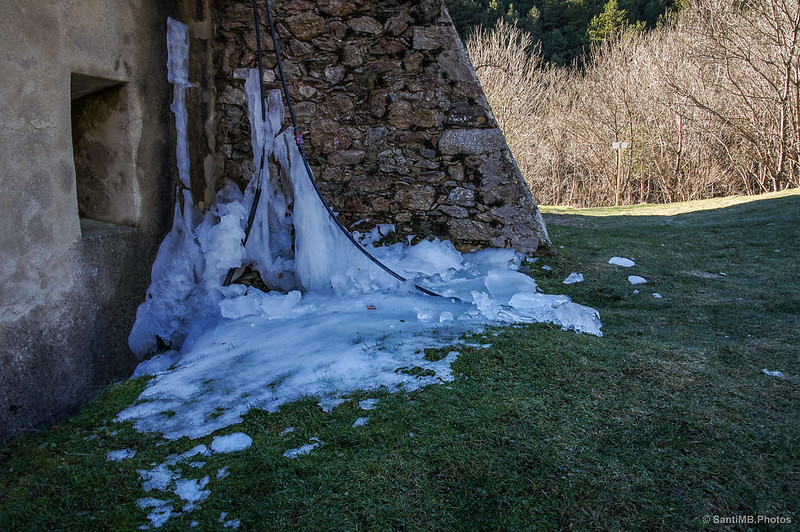 Hielo en el Refugio de les Salines