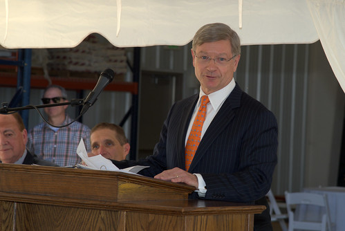 Charles C. Miller III speaks at the new poultry research and education center dedication ceremony