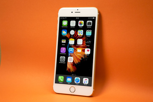 iPhone 6 With Orange Backdrop