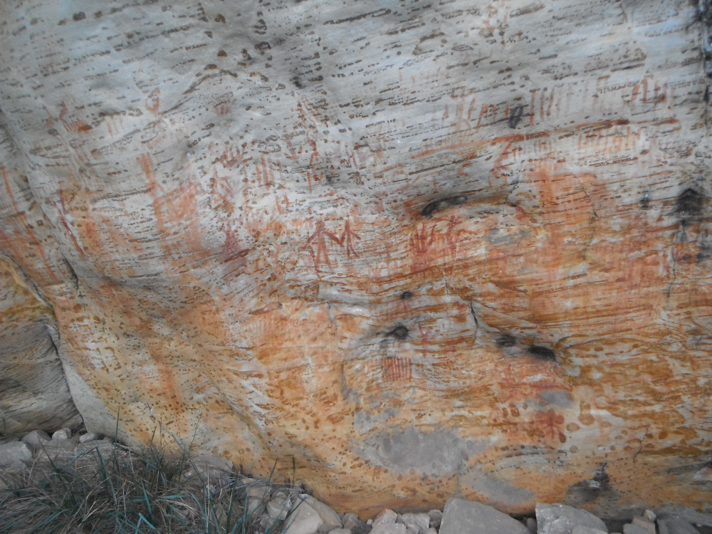Rock Paintings at the Shelter - Grampians