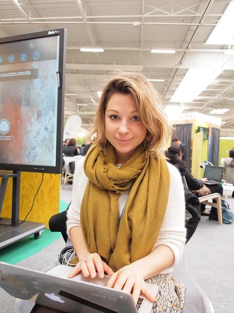 法國氣候行動網絡政策顧問瑟莉亞高蒂耶。攝影:賴慧玲。