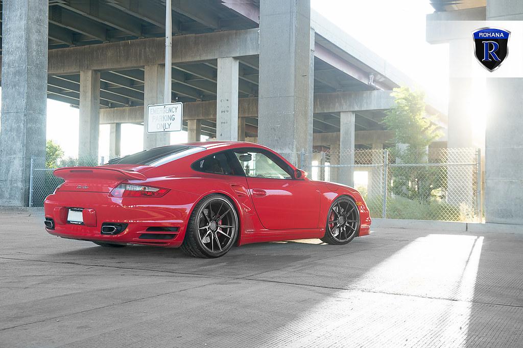 Porsche 911 Red Turbo Rf2 Matte Black 21 Rohana