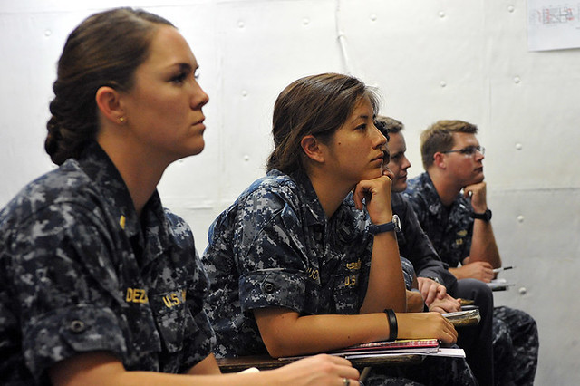 Junior officers aboard the USS Dewey (DDG 105)