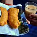 Vazhakkai bajji/Raw banana fritters