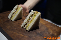 Sandwich with tea