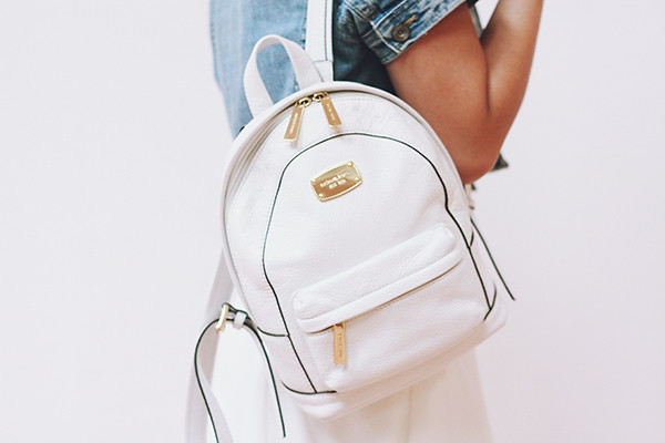 michael kors white backpack