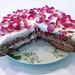Tarta de pétalos de rosa