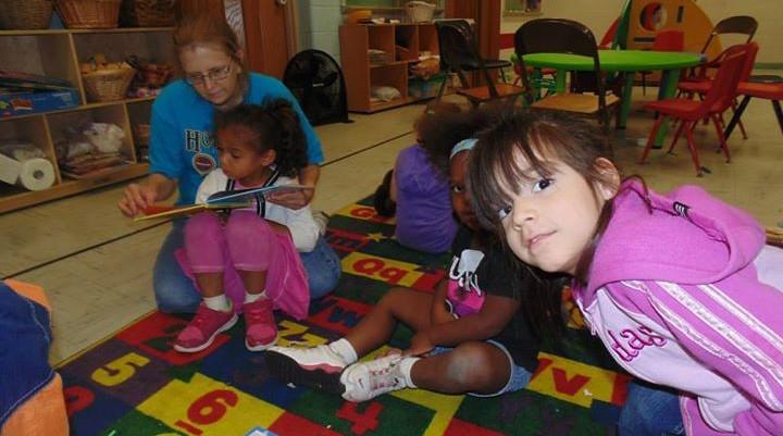 children playing at baby u