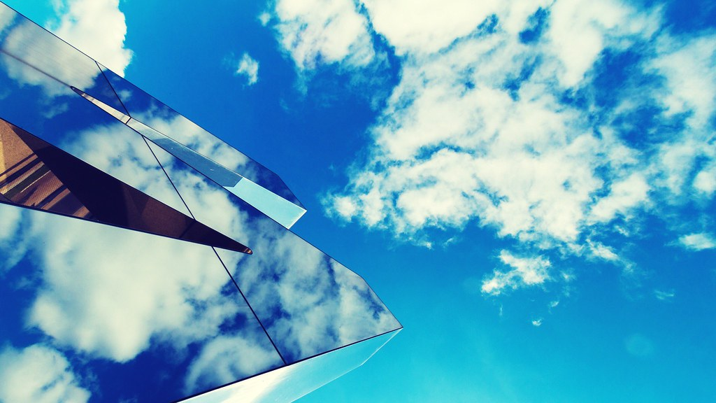 sky blue mountain reflection - photo #47