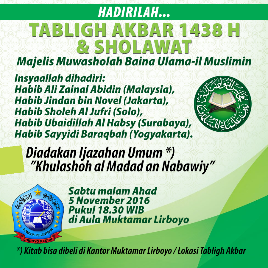 Tabligh Akbar Majelis Muwasholah 2016