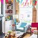 midcentury style colourful home