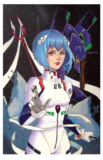 Rei Ayanami by Chrissie Zullo