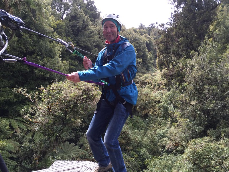 Rotorua Canopy Tours with Michael in the trees
