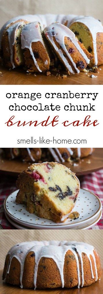 Orange Cranberry Chocolate Chunk Bundt Cake