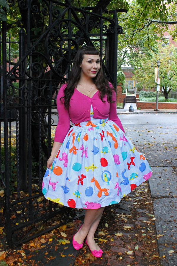 novelty print balloon dress